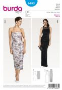 6483 Burda Pattern: Women's Evening Strapless Dress